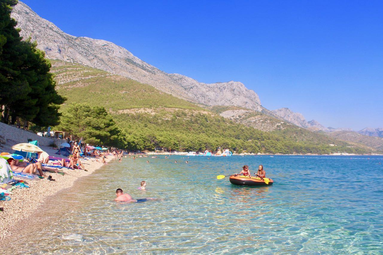 Živogošče Chorvatsko, kemp Boban, kemp Dole